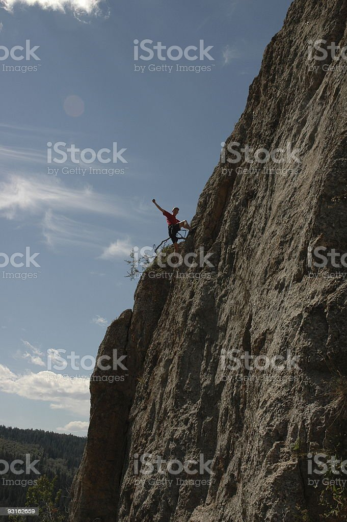 Rock Climber success royalty-free stock photo