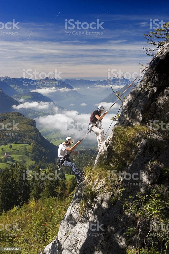Rock Climbers royalty-free stock photo