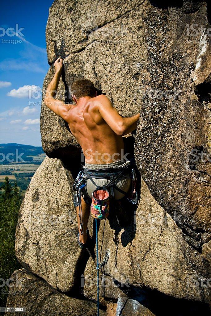 Rock Climbing 6b+ royalty-free stock photo