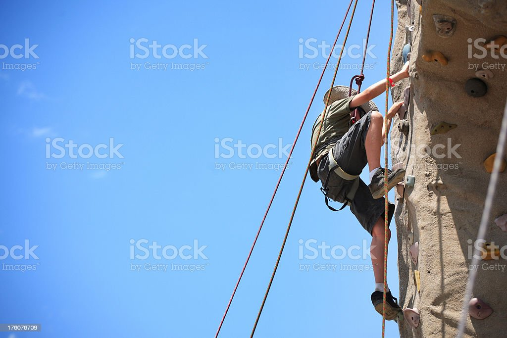 Rock Climbing Boy royalty-free stock photo