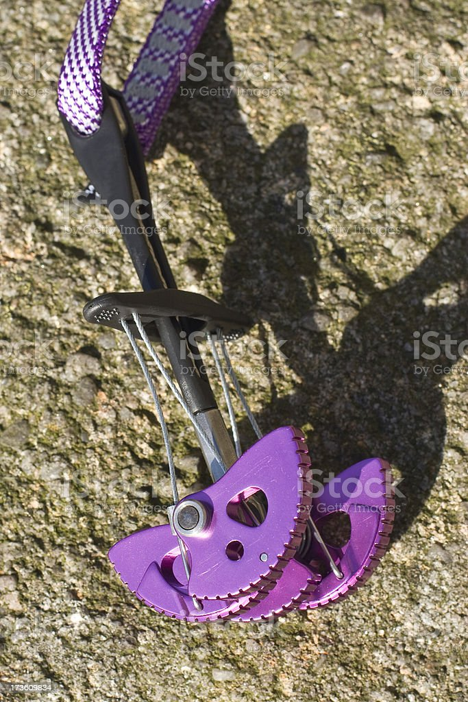 Rock climbing cam by Wild Country stock photo