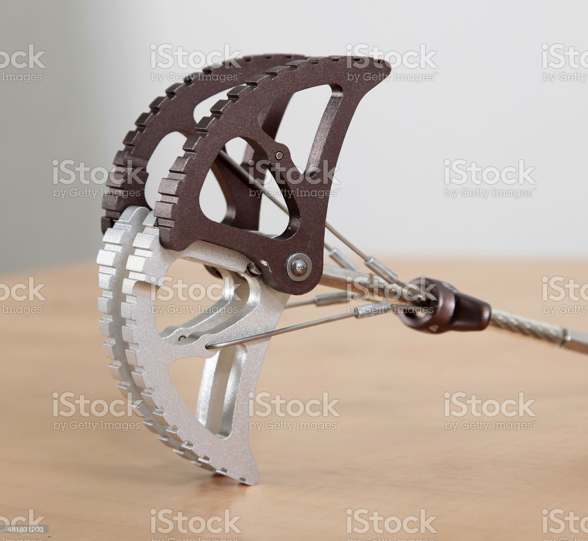 Rock climbing camming devise royalty-free stock photo