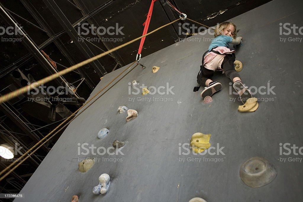 Rock Climbing Girl! royalty-free stock photo
