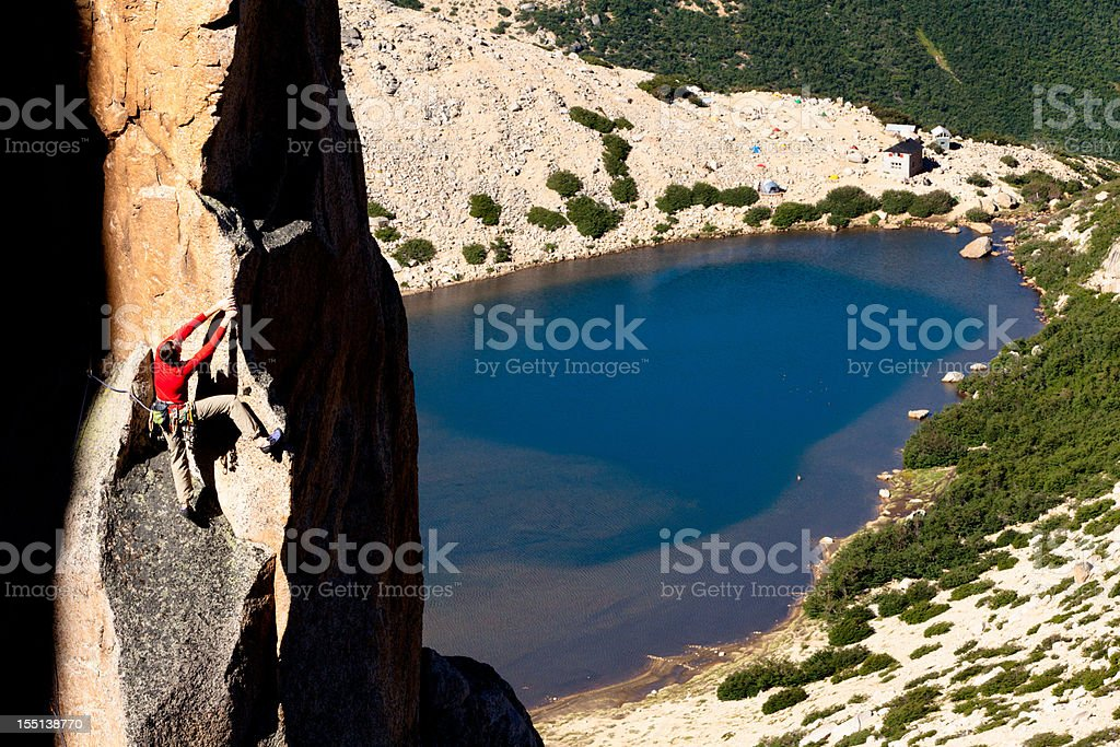 Rock Climbing in Argentina stock photo