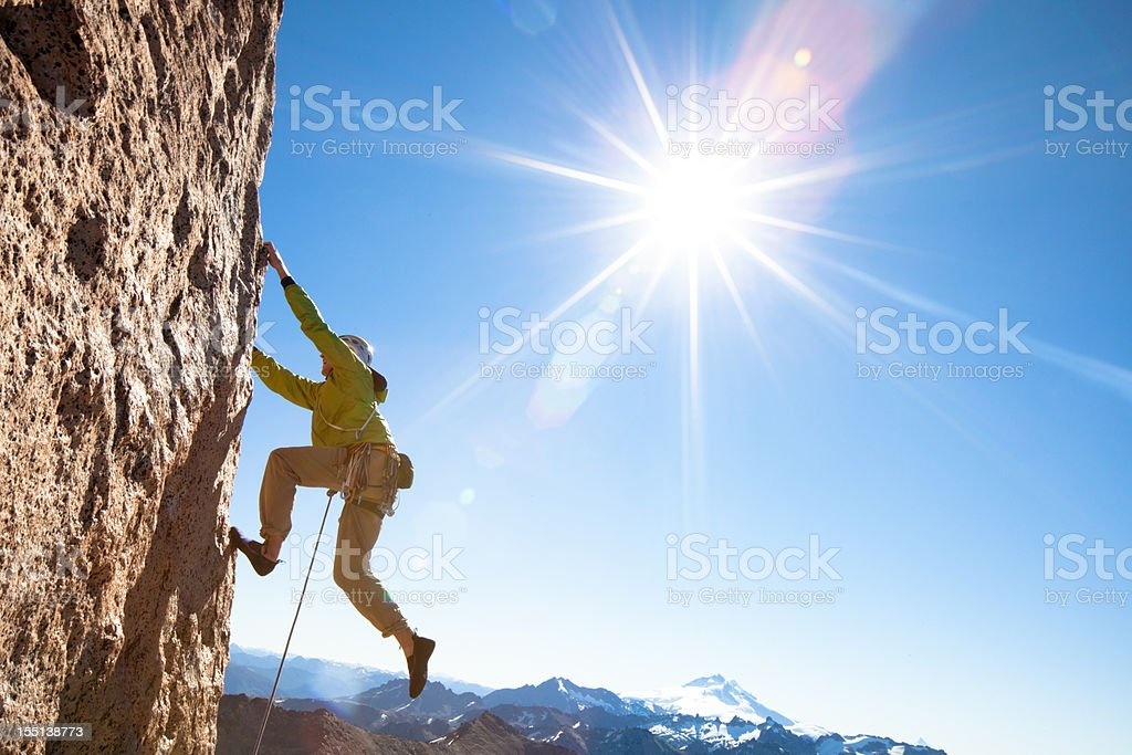 Rock Climbing in Patagonia royalty-free stock photo