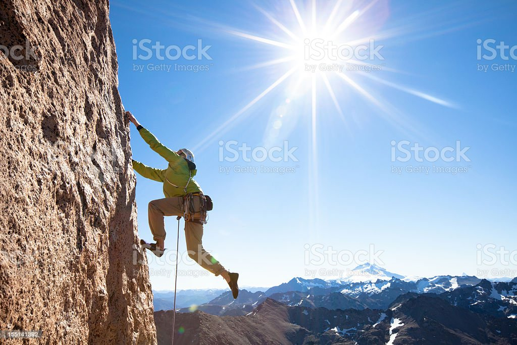 Rock Climbing in Patagonia stock photo
