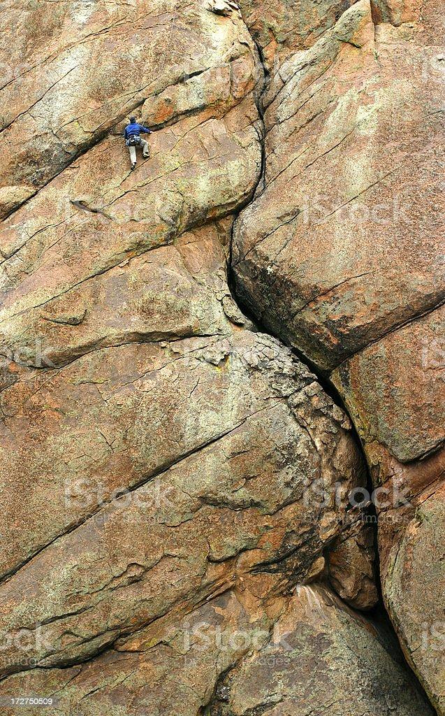 Rock Climbing, New Mexico royalty-free stock photo