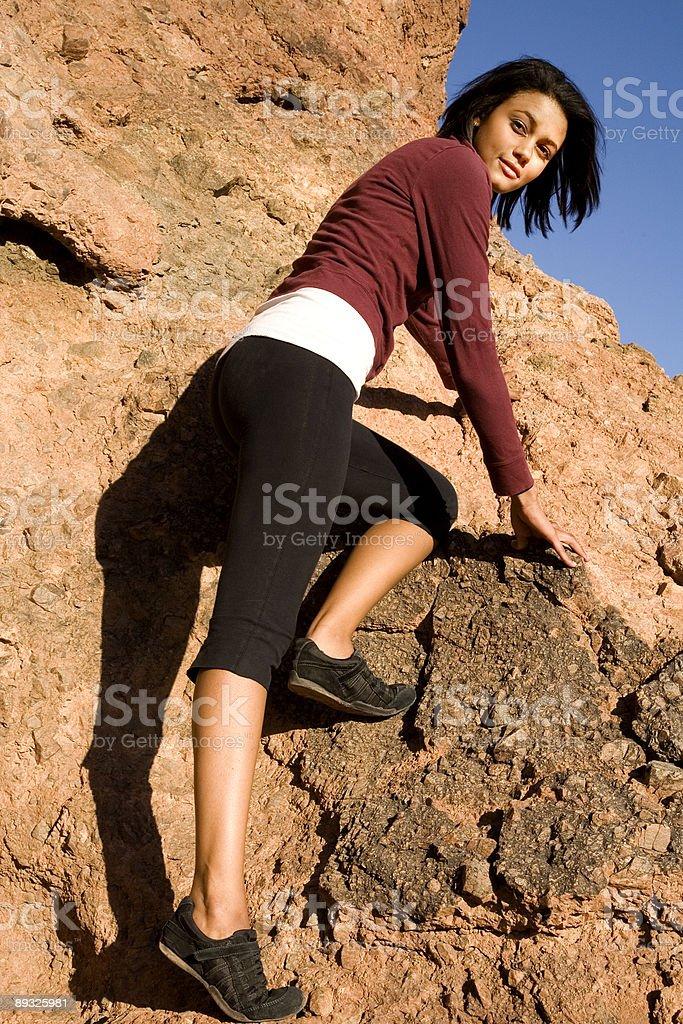 Rock Climbing. royalty-free stock photo