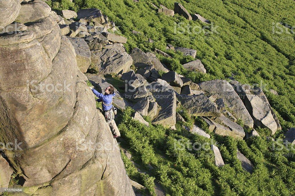 Rock climbing - Stanage stock photo