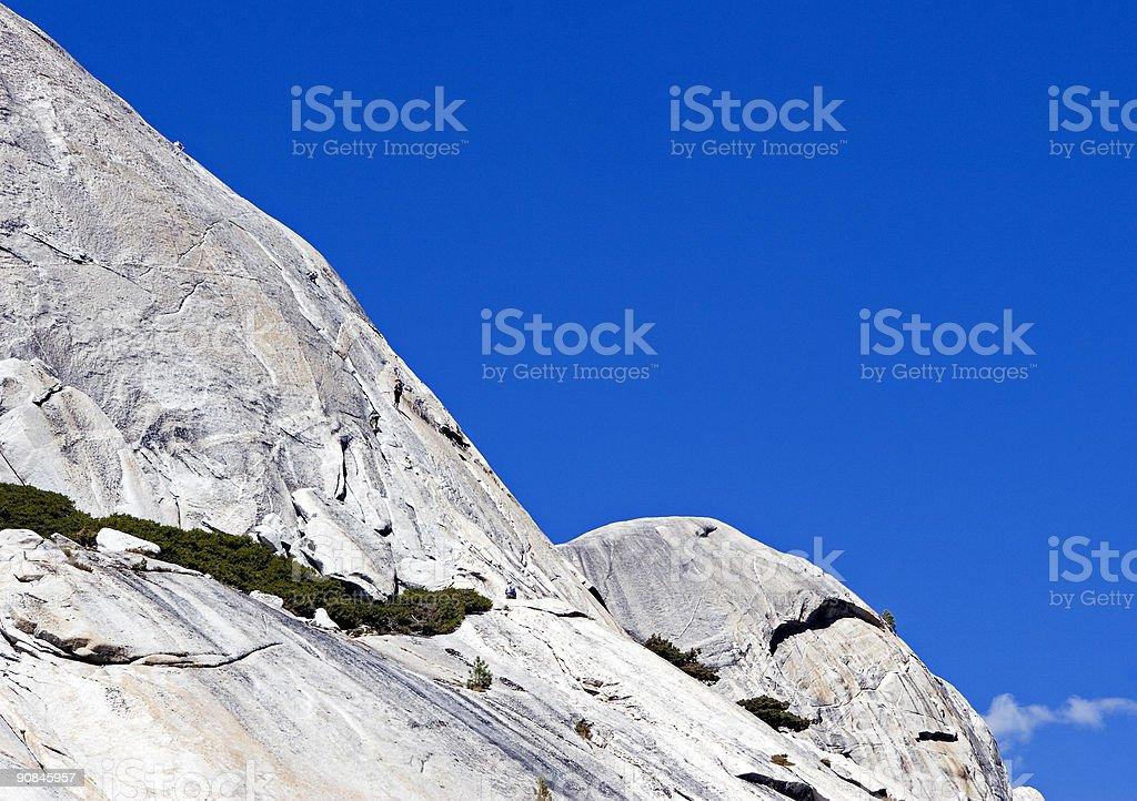 Rock climbing, Tioga pass road, California stock photo
