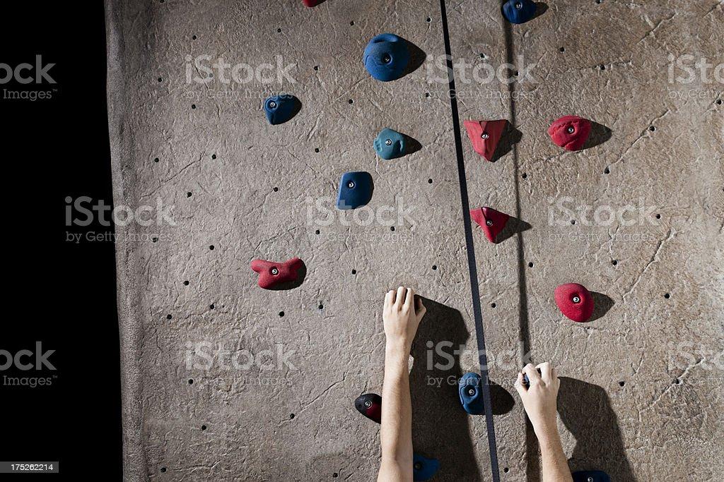 Rock Climbing Wall royalty-free stock photo