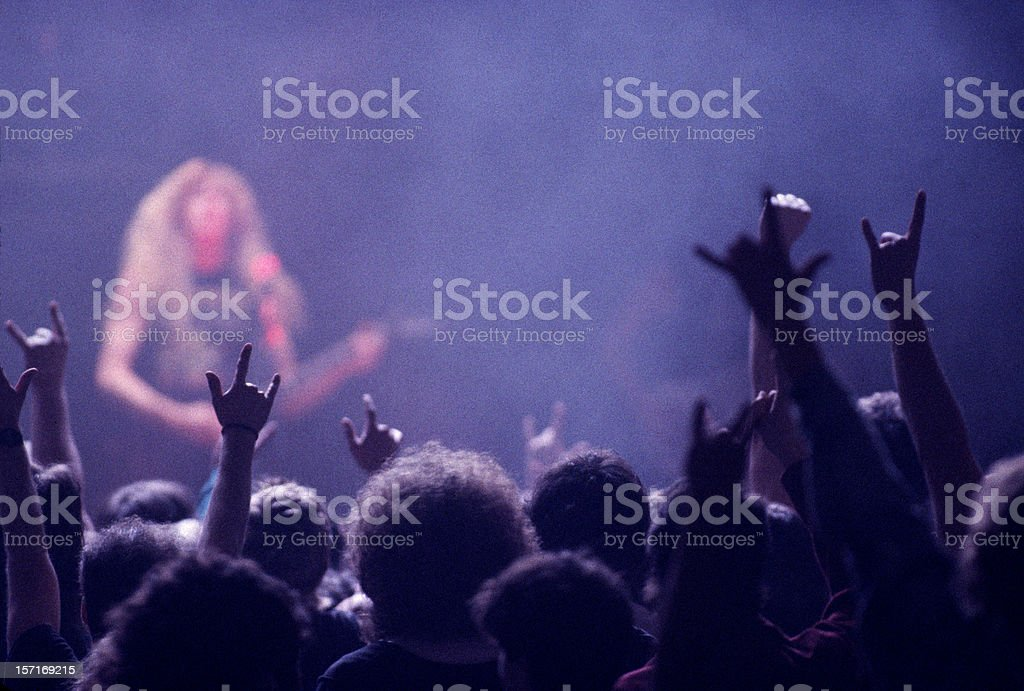 Rock concert audience stock photo
