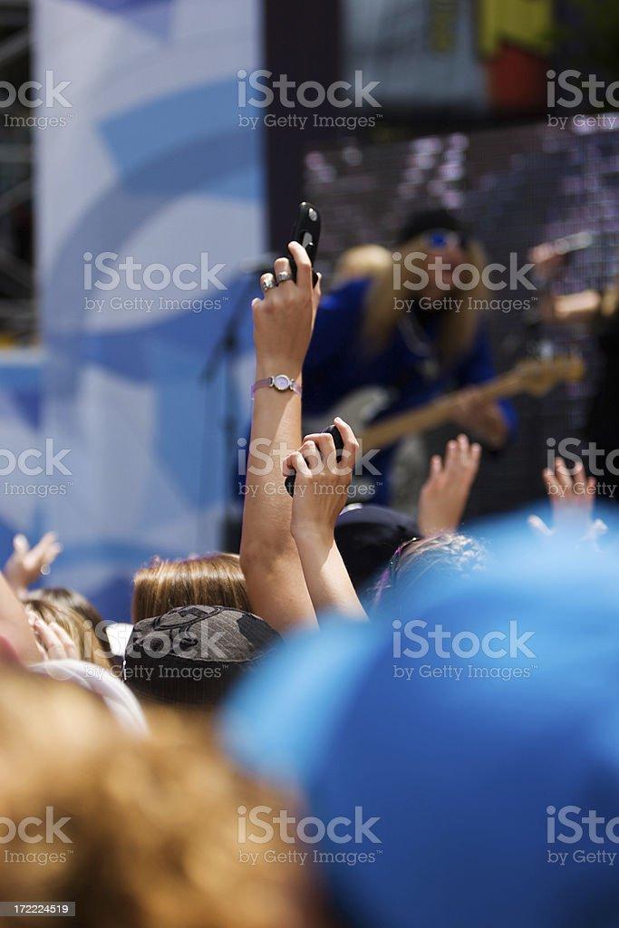 Rock Concert Cheering royalty-free stock photo