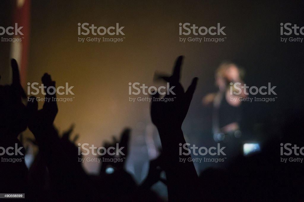 rock concert crowd people stock photo