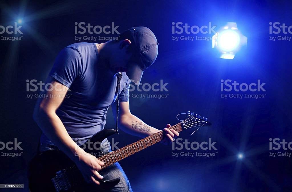 rock concert stock photo