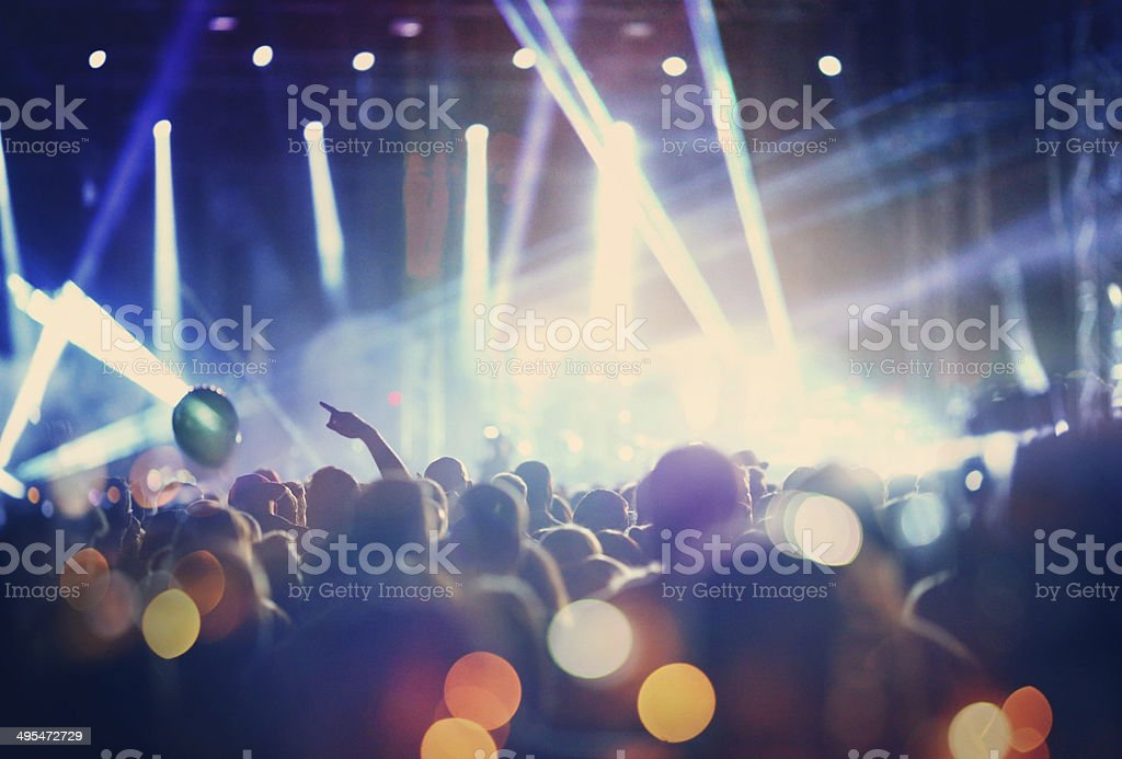 Rock concert. stock photo