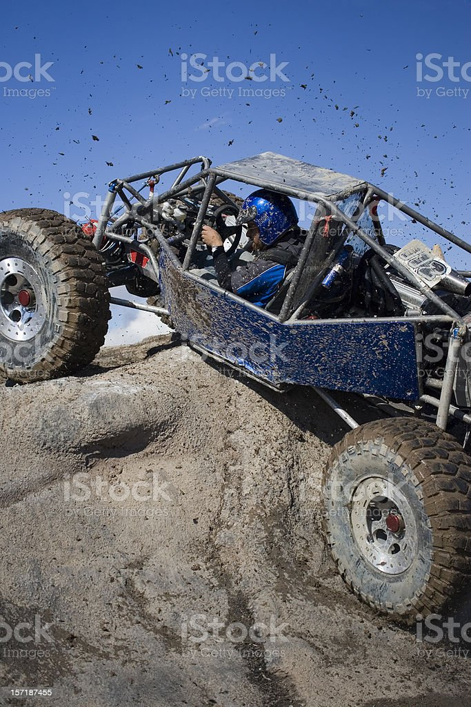 Rock Crawling-flinging mud royalty-free stock photo