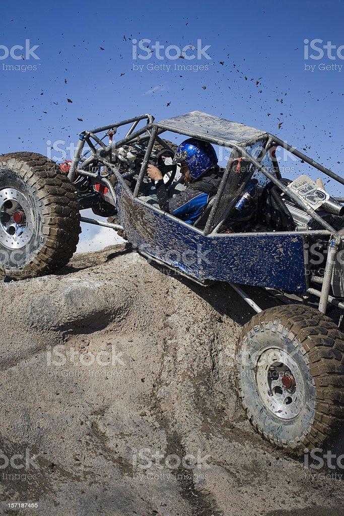 Rock Crawling-flinging mud stock photo
