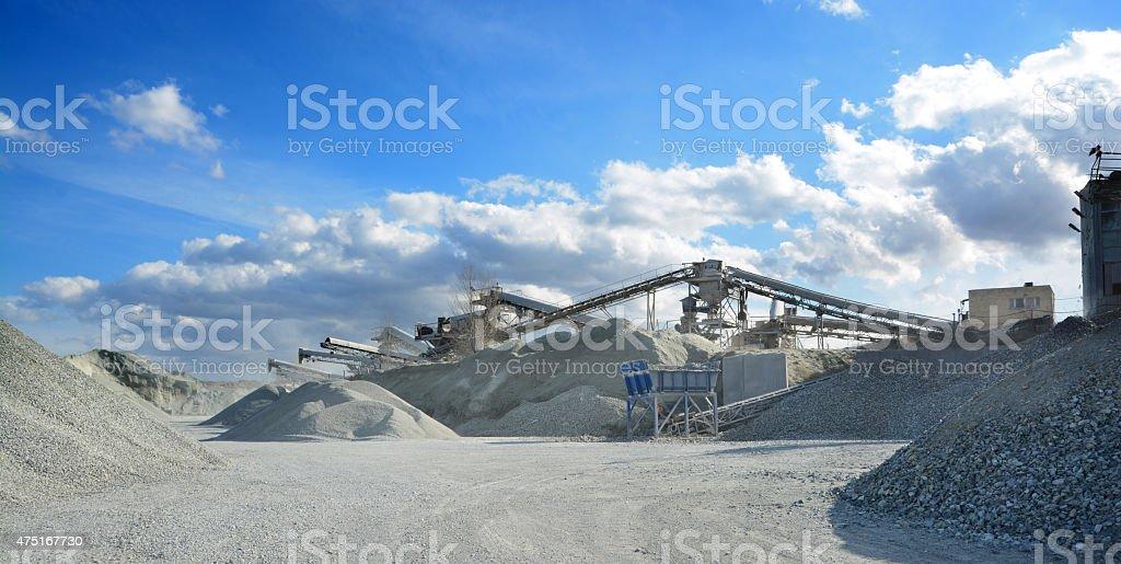 rock crusher machine stock photo
