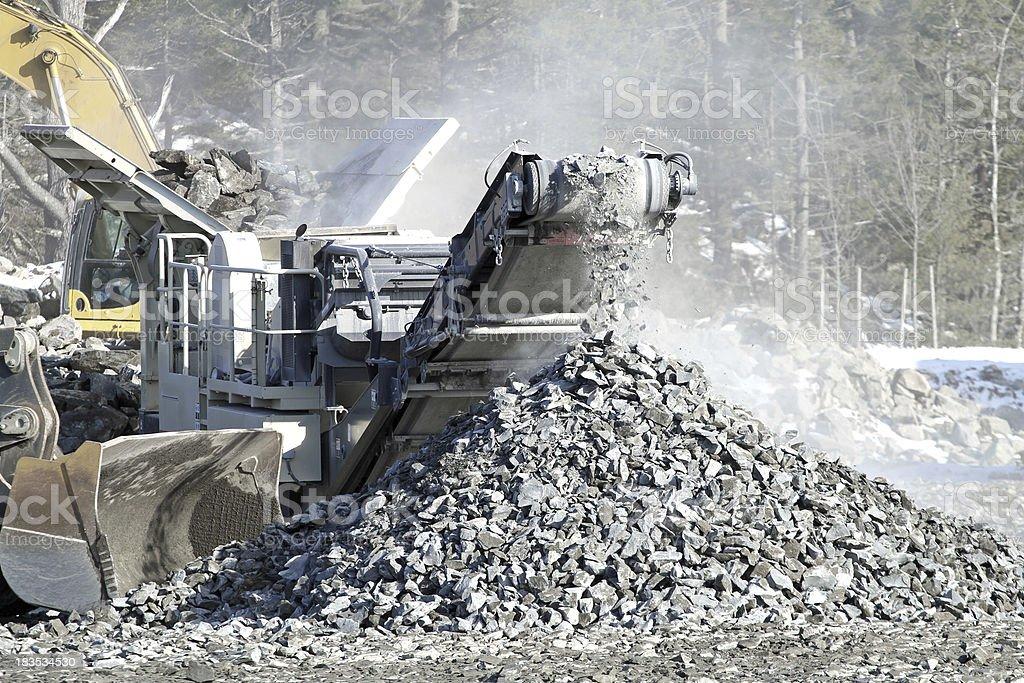 Rock Crusher stock photo