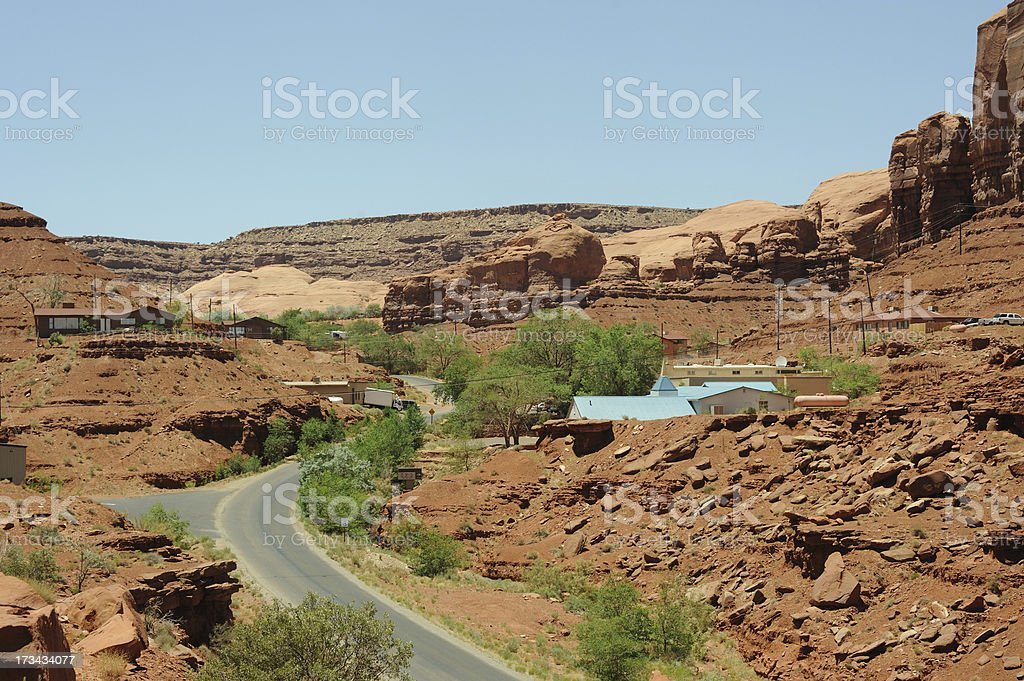Rock Door Canyon Road royalty-free stock photo