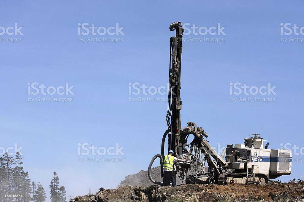 Rock Driller royalty-free stock photo