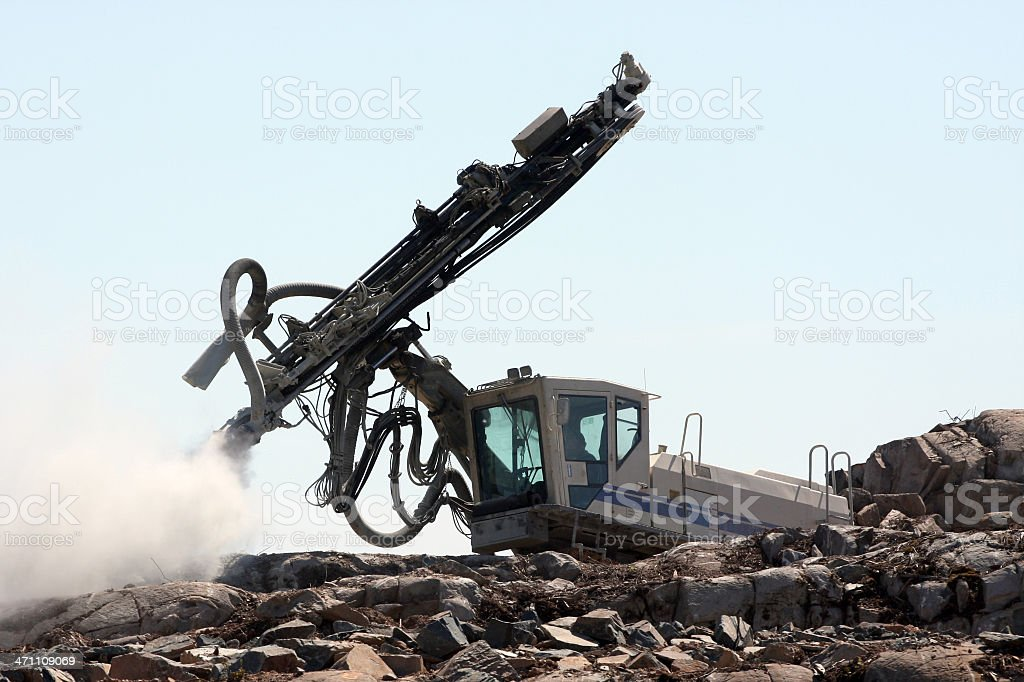 Rock Driller royalty-free stock photo