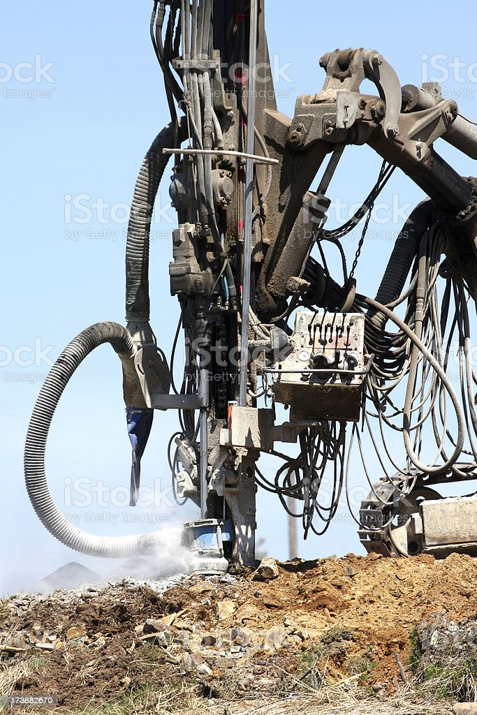 Rock Drilling Machine royalty-free stock photo