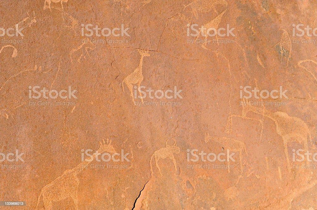 Rock engravings royalty-free stock photo