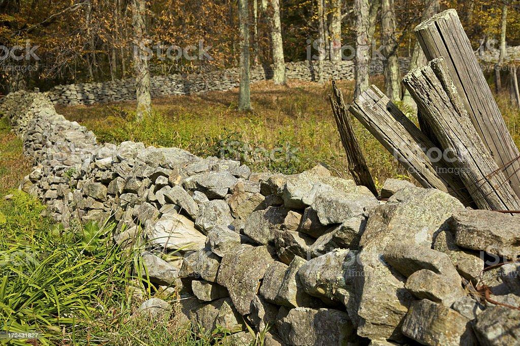 Rock Fence royalty-free stock photo