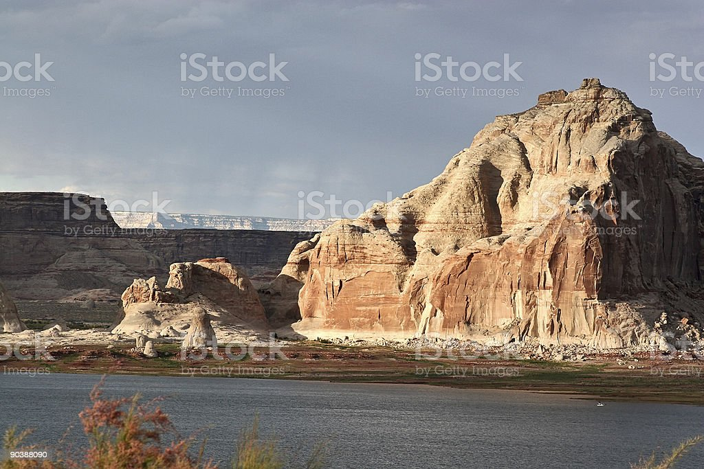 Rock formation at Lake Powell royalty-free stock photo
