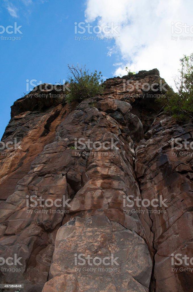 Rock Formation, Gran Canaria stock photo