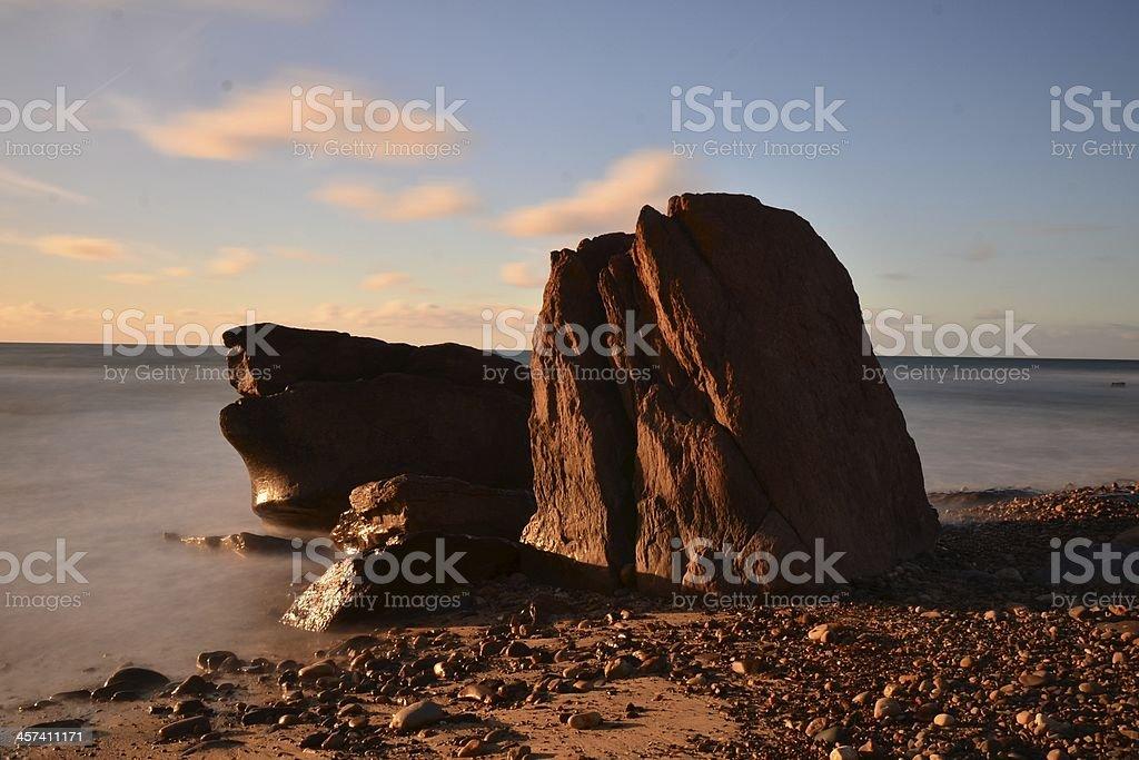 Rock Formation, Hallett Cove Beach, Adelaide Australia stock photo