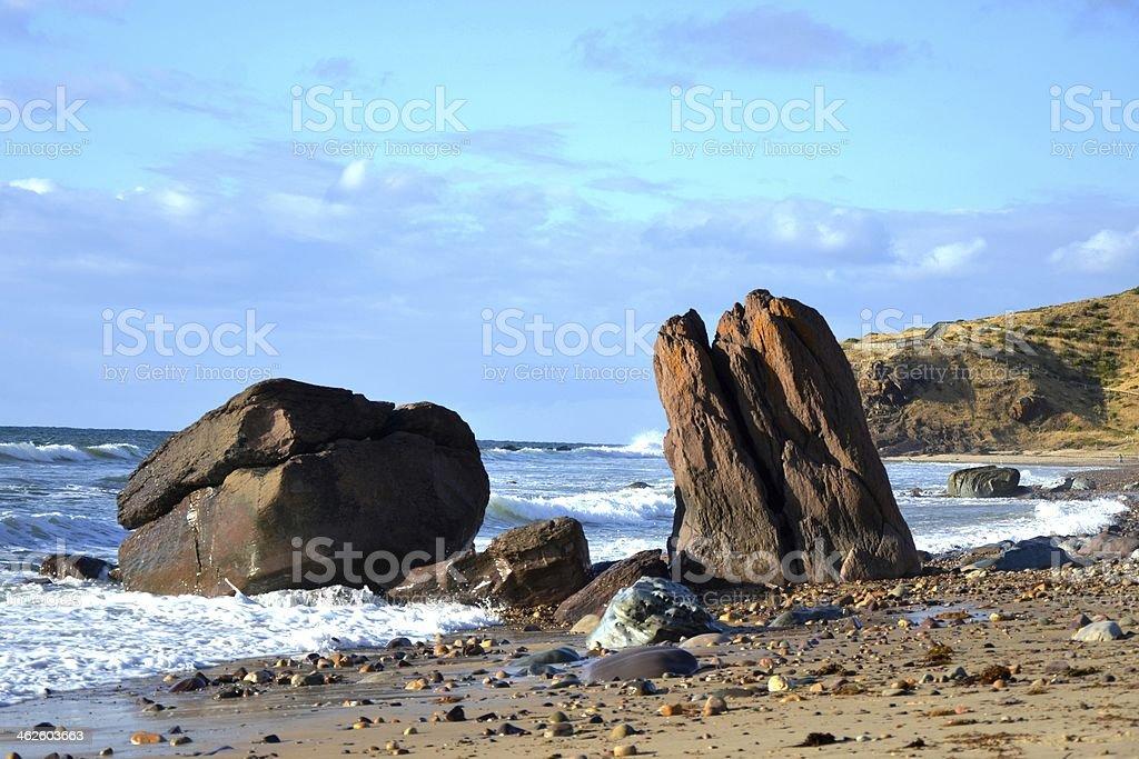 Rock Formation, Hallett Cove Beach stock photo