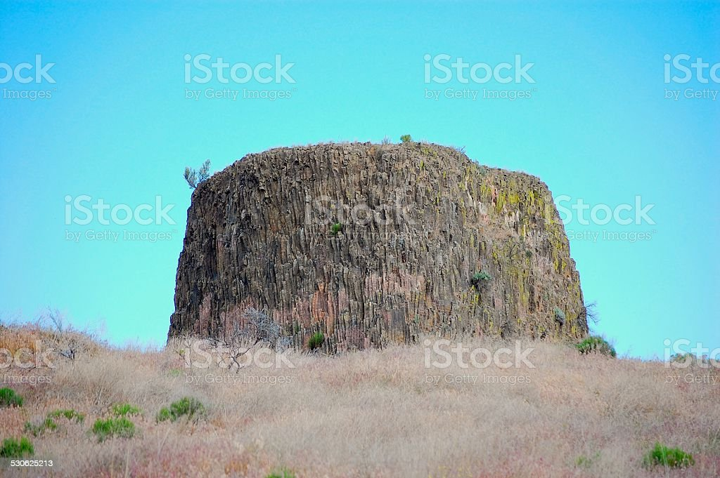 Rock formation, Hat Rock State Park, Oregon stock photo