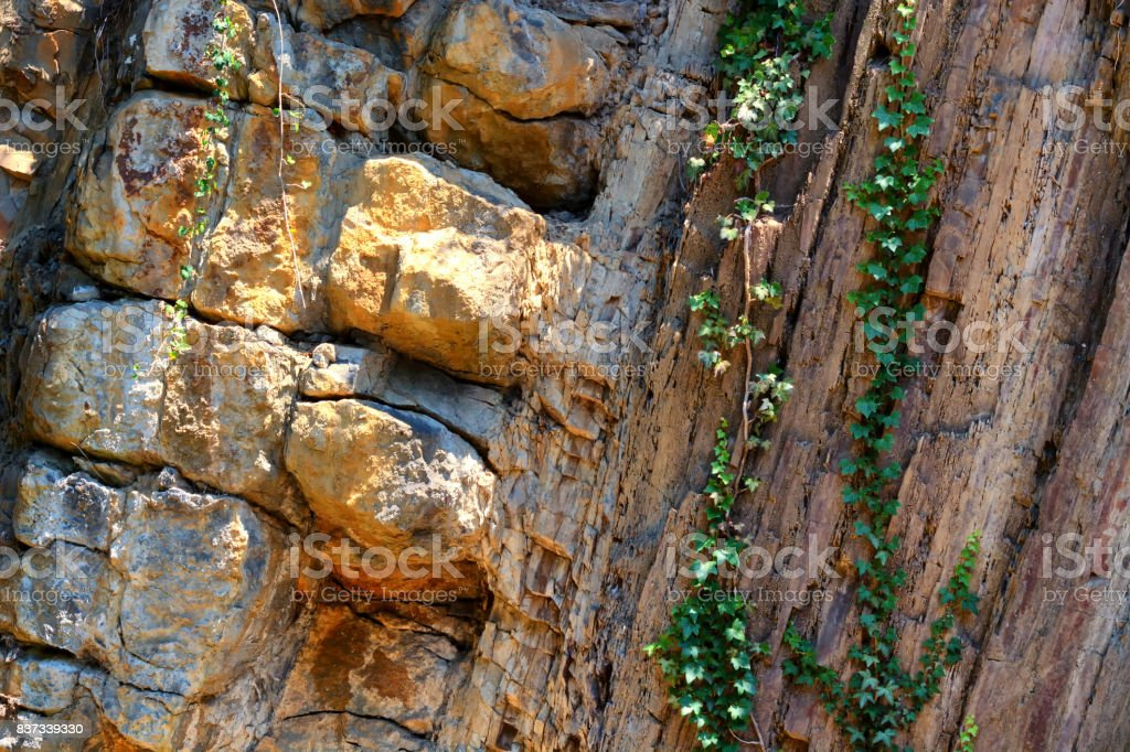 Rock formation in a quarry stock photo