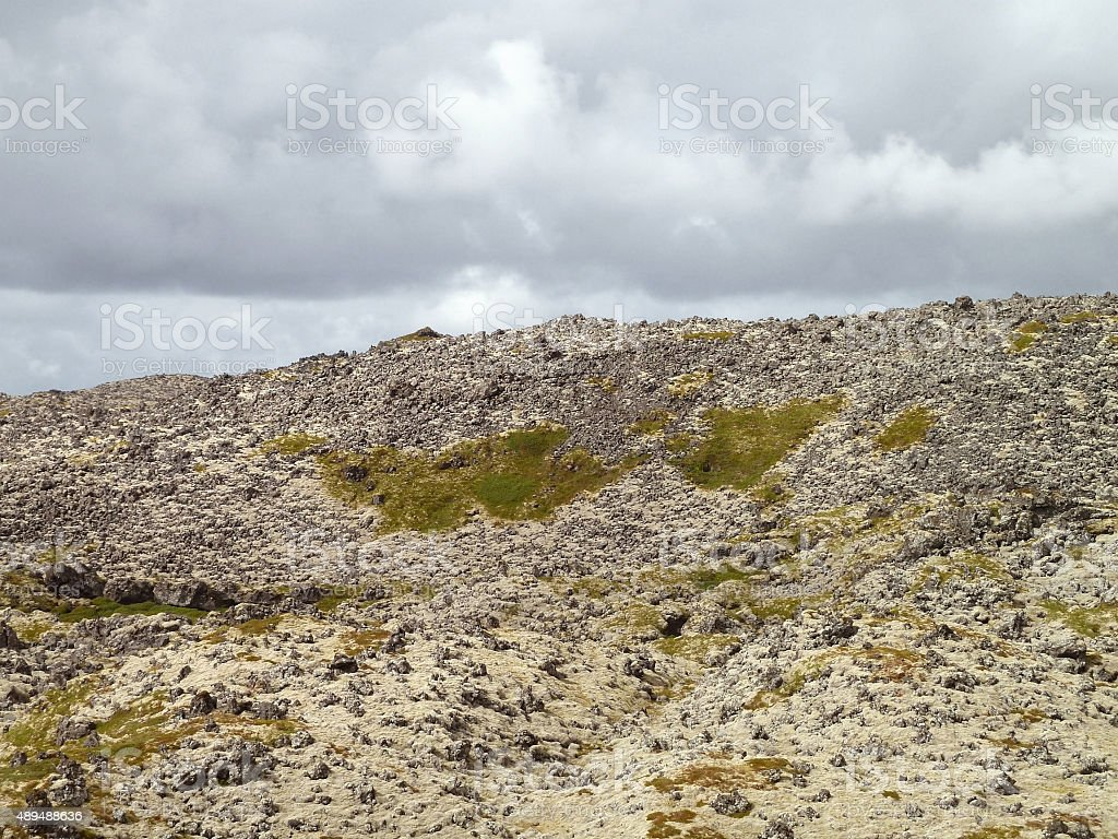 rock formation in Iceland stock photo