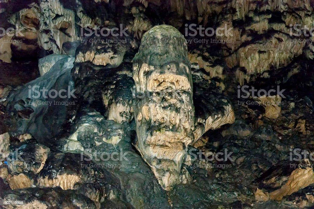 Rock formation inside the cave Magura near  village Rabisha stock photo