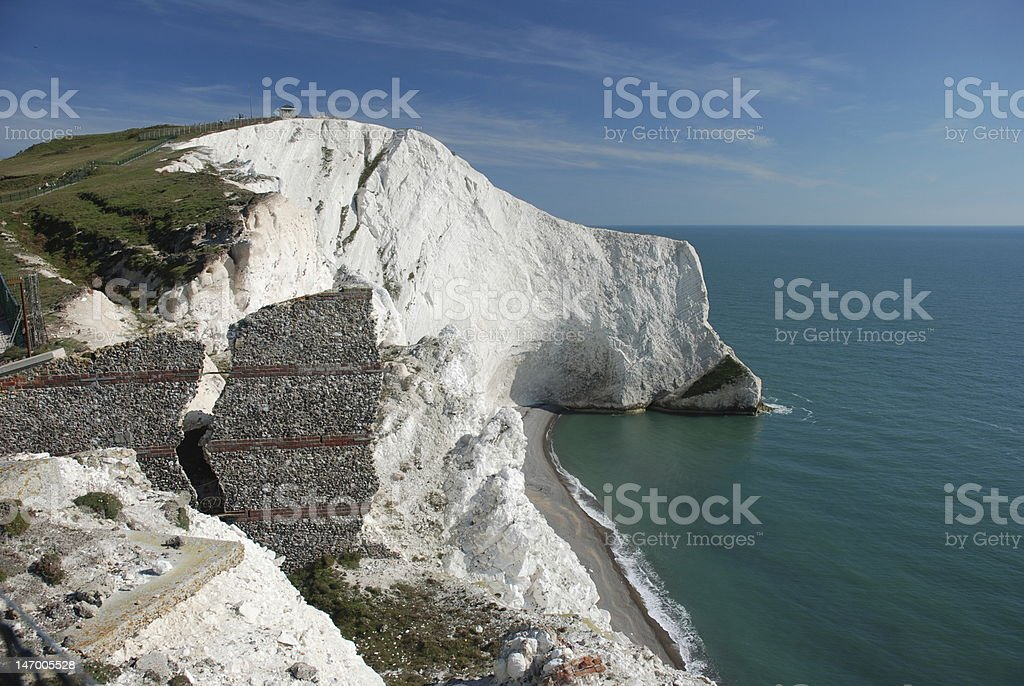 Rock formation on the Isle of Wight stock photo