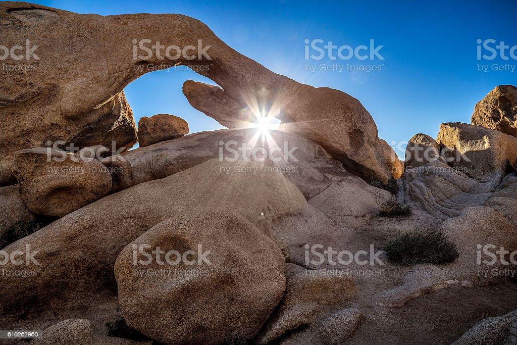 Rock Formations at Joshua Tree National Park stock photo