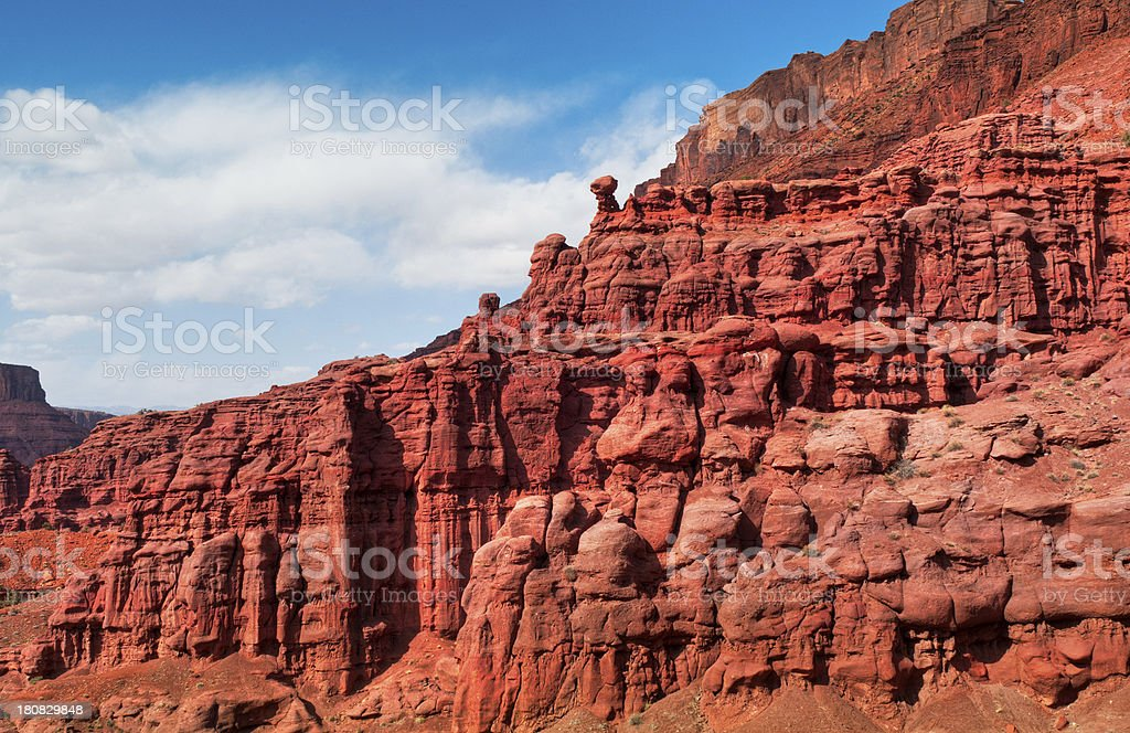 Rock formations, Fisher Towers, Moab, Utah, USA stock photo