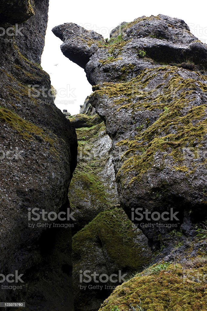 Rock Formations In A Cliff stock photo