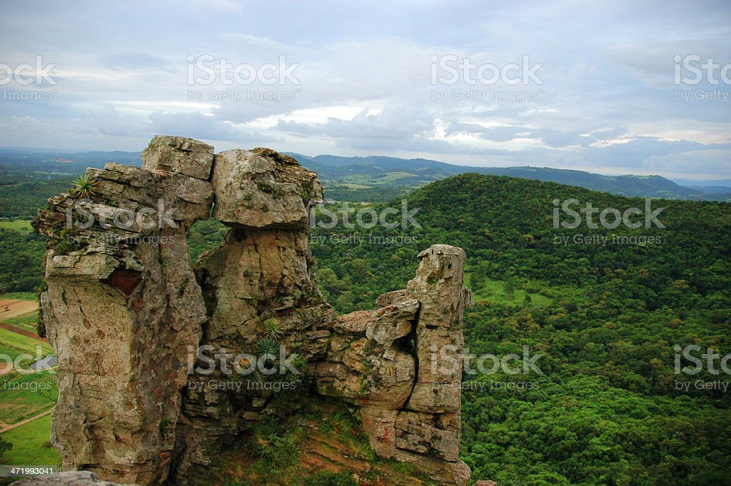 Rock formations in Itacolomi, Brazil stock photo