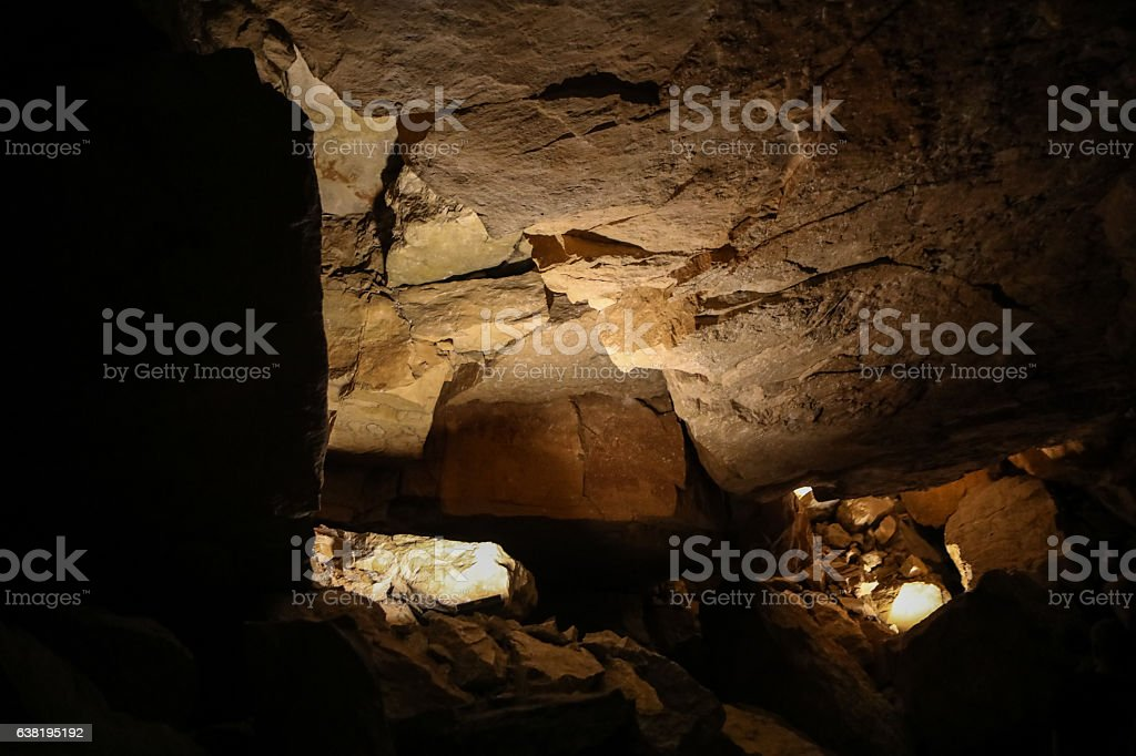Rock formations in Mammoth Caves stock photo