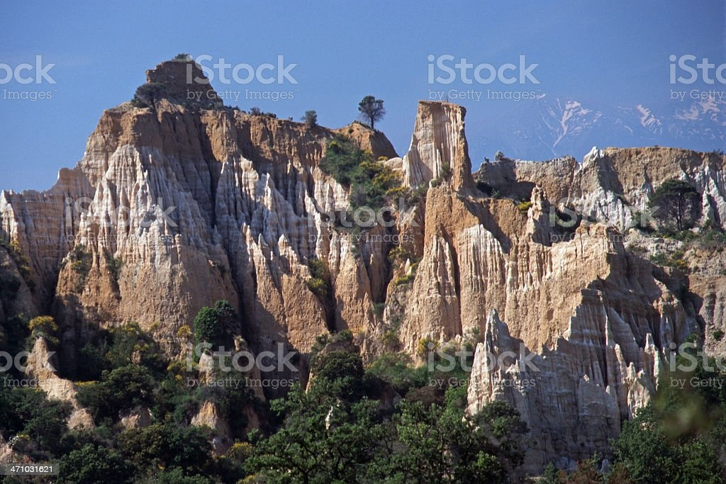Rock formations in Southern France stock photo