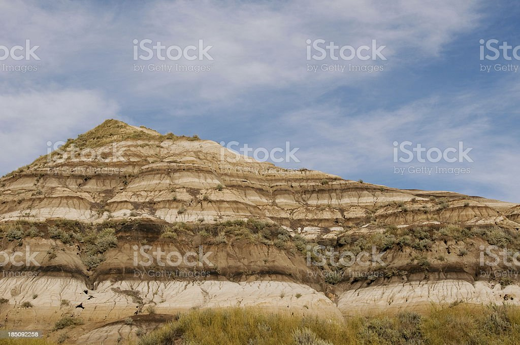 Rock formations in the Drumeller Valley region stock photo
