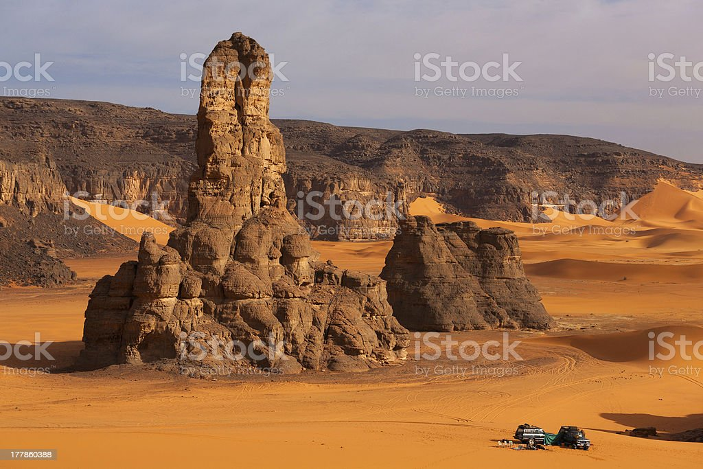 Rock formations in the Sahara desert royalty-free stock photo