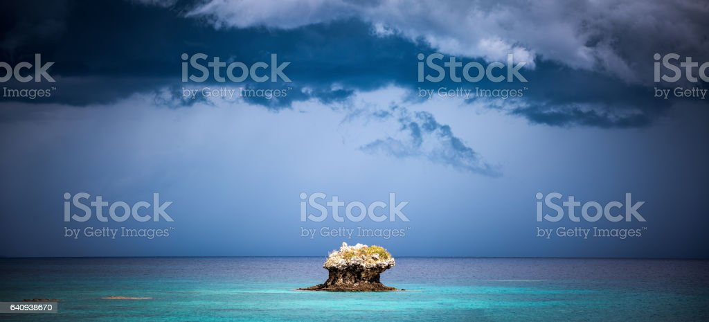 Rock Formations In The Sea stock photo