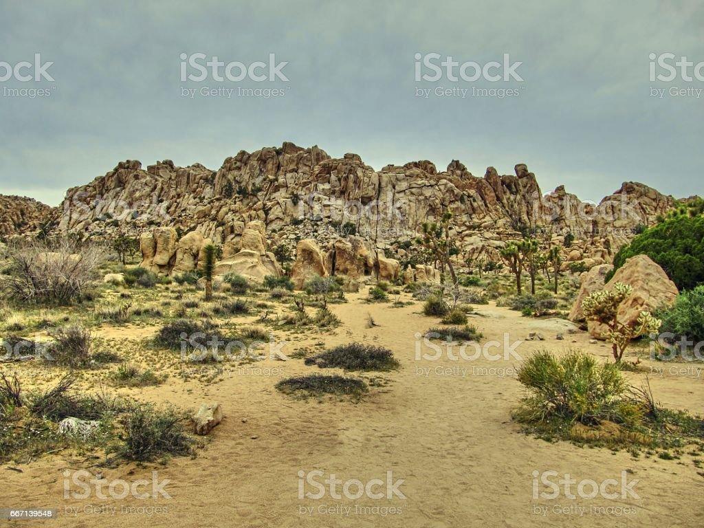 Rock formations of Joshua Tree National Park - California stock photo