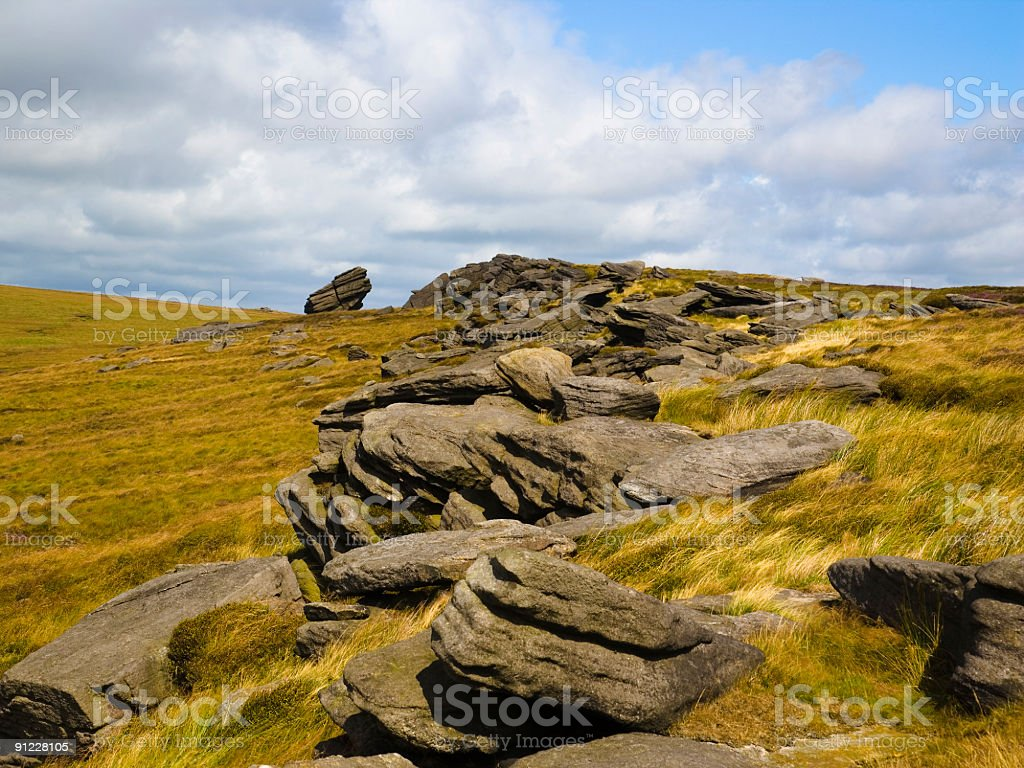 Rock Formations On Moorland royalty-free stock photo